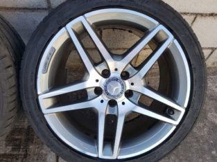 Genuine 18Inch Alloy Wheels staggered fitments for 2014/2015 Mercedes E-class AMG Line