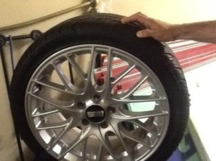 BBS Genuine wheels with new tyres