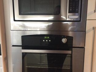 Hob/extractor/oven/combi microwave and single tall boy, Kitchen integrated belling bundle