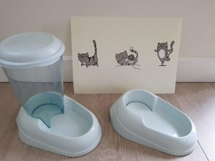 £15 Cat smart sipper water drinker, food bowl and mat