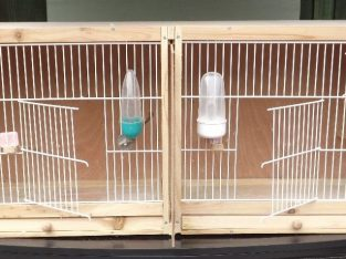 DOUBLE BREEDING CAGE – WOODEN