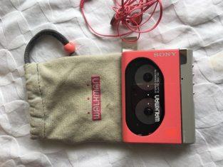 Pink Sony Walkman cassette player