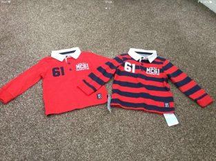 NEW Boys rugby shirts x 2