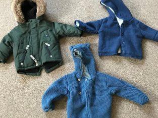 Never worn – 3 boys coats – 6-9 months.