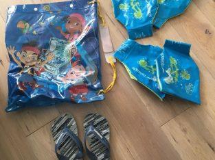 SALE Boy swim bag, Havaiana flip flops size 10-11, 2 pairs speedo armbands