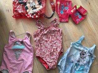 Next, M&S, Gap – Girl swim bag, speedo armbands, 3x swimming costumes 5yrs