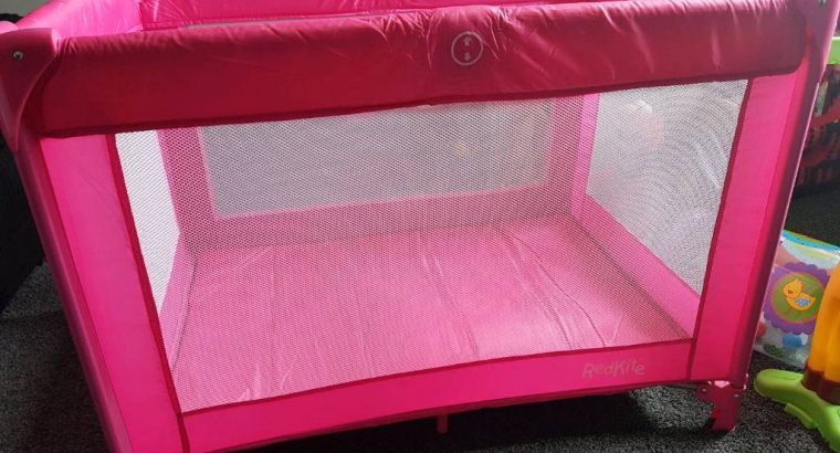 Travel Cot, Pink