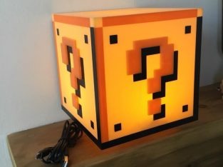 Like new Super Mario Bros Question Block Night Light