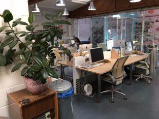 £190 Desk space in friendly, creative studio