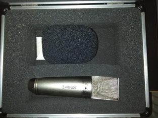 2 Microphones – Rode NT2 and AKG BBB D5 and Alesis SR-16 drum machine