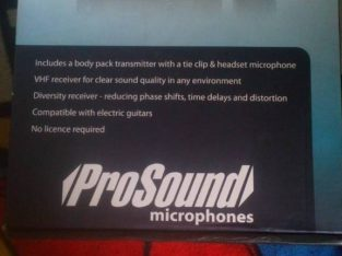 Professional sound radio mic systems