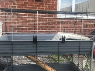 Almost new – Double rabbit cage