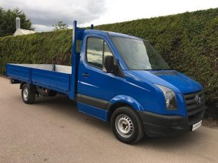 Volkswagen Crafter CR35 2.5 Blue – 14ft DROPSIDE FLATBED PICK UP 2010