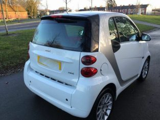 Good / Bad Credit Car Finance (white) 2012 Smart ForTwo coupe passion 71bhp