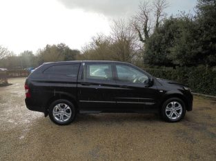 Black Ssangyong Korando Sports Ext 2013