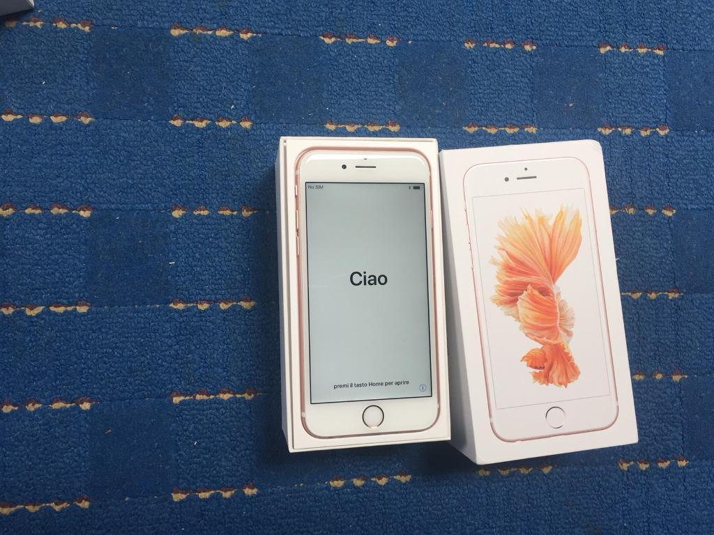 FULLY BOXED APPLE IPHONE 6S 16GB UNLOCKED IMMACULATE