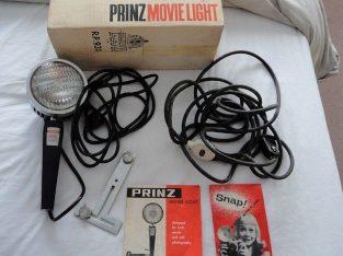 Vintage Retro Prinz Movie Light – Original box, packing & Manual