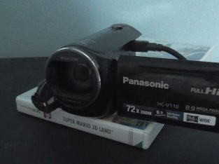 For sale Panasonic HCV110 Camcorder Broken Screen