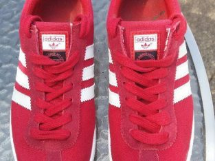 Red Mens Adidas Gazelle Suede Leather Trainers Size 7