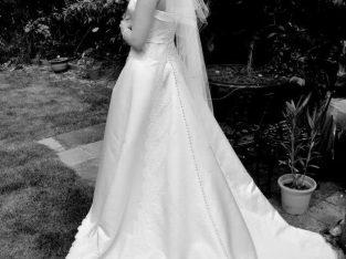 Cream Mid Length veil