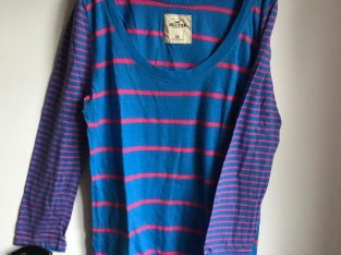 Size XS Long Sleeve Striped Hollister Top