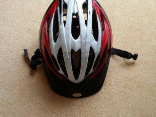 Red Bell cycle helmet