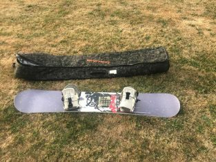 Perfect condition Atomic snowboard, bindings & bag