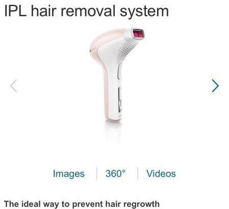 Very good condition Lumea IPL hair removal system