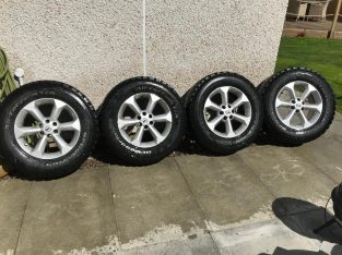 Used condition Nissan Navara alloys with bf Goodrich tyres