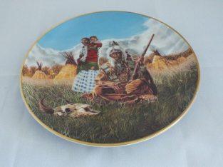 3 left Franklin Mint Native American Fine Porcelain Plates limited editions