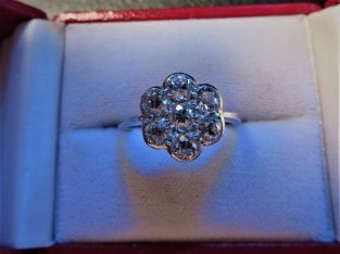 For sale Edwardian daisy cluster diamond (1.4ct) ring