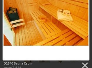 Excellent condition – 8 person sauna