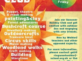6th-17th Aug Summer Holiday Club for children aged 6-12