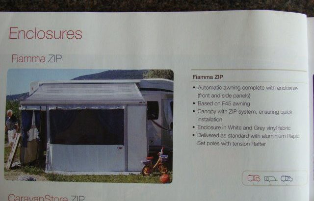 for sale fiamma 4.5mt ZIP awning sides & front