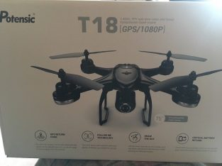 Unopened Potensic T18 Drone with 2.4GHz FPV real time video