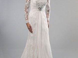 STUNNING ALFRED SUNG WEDDING GOWN & LACE JACKET BRAND NEW