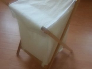 Good clean condition Folding canvas laundry basket