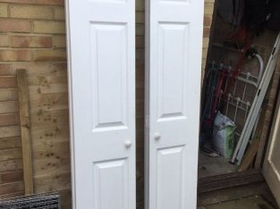 Interior doors – Bifold, set of 2, sold as seen