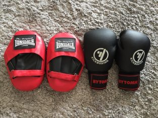 Hardly used Martial Arts Gloves and Pads