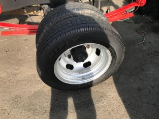 "For sale Transit twin wheel wheels and nearly new tyres 16"" rim"
