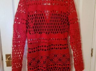 Lace Dress size 10 Red