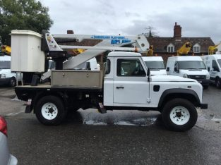 FOR SALE 13/13 LAND ROVER DEFENDER CPL A314 CHERRY PICKER/ACCESS PLATFORM*1 OWNER*13.5M