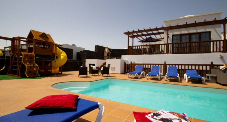 Villa in Lanzarote Playa Blanca 5 Beds Sleeps 12 Panoramic Sea Views Hot Tub Play Area