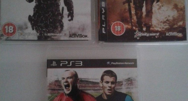 Lot of three Playstation 3 games