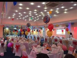 Chair Covers & Sashes Hire, Table Linen , Balloon Decoration Hire, All London Areas ,Essex & Kent