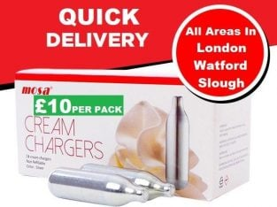 QUICK DELIVERY ALL OVER LONDON/WATFORD/SLOUGH – MOSA CREAM CHARGER