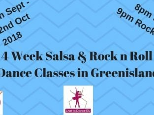 Greenisland 4 Wk Salsa and Rock n Roll Dance Classes from Tuesday 11th Sept 2018