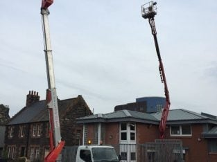 HYDRAULIC PLATFORMS /CHERRY PICKER FOR HIRE WITH OPERATOR – EDINBURGH, LOTHIANS AND FIE