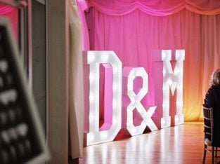 5ft Light Up Letters HIRE