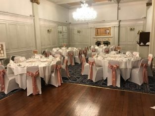 chair cover with free sash (DIY hire)